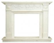 Kominek portalowy Barcelona biały marmur wymiary (szer/wys/głęb): 160/130/30