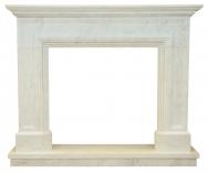 Kominek portalowy Lancaster biały marmur wymiary (szer/wys/głęb): 145/121/30