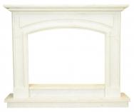 Kominek portalowy Verona biały marmur wymiary (szer/wys/głęb): 155/126/29.2