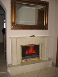 Kominek portalowy nr 1 marmur crema marfil wymiary: 140 x 23
