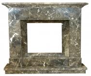 Kominek portalowy Jersey czarno-biały marmur wymiary (szer/wys/głęb): 145/121/30