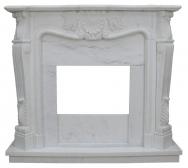 Kominek portalowy La-rochelle biały marmur  wymiary (szer/wys/głęb): 150/132/35