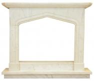 Kominek portalowy Oxford biały marmur wymiary (szer/wys/głęb): 145/121/30