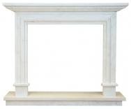 Kominek portalowy Palermo biały marmur wymiary (szer/wys/głęb): 145/121/30