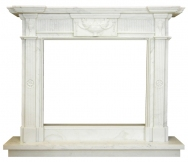 Kominek portalowy Rodos biały marmur wymiary (szer/wys/głęb): 150/125/30