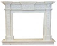 Kominek portalowy Santoryn biały marmur wymiary (szer/wys/głęb): 155/125/30