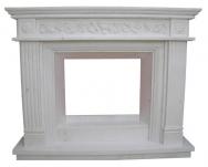 Kominek portalowy Toledo  biały marmur wymiary (szer/wys/głęb): 160/130/30