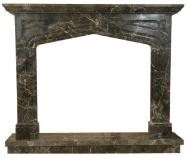 Kominek portalowy Liverpool czarno-biały marmur wymiary (szer/wys/głęb): 145/121/30