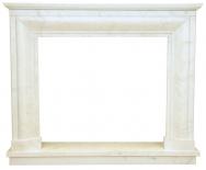 Kominek portalowy Milano biały marmur wymiary (szer/wys/głęb): 145/121/30