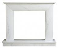 Kominek portalowy Modena biały marmur wymiary (szer/wys/głęb): 145/119/30