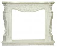 Kominek portalowy Nancy biały marmur wymiary (szer/wys/głęb): 145/120/30