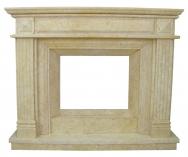 Kominek portalowy Preston marmur jerusalem gold wymiary (szer/wys/głęb): 160/130/30